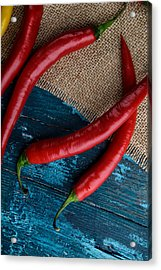 Chili Peppers Acrylic Print by Nailia Schwarz