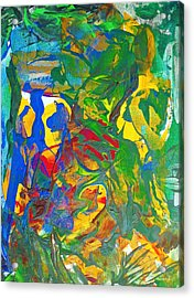 Chill I Knew This Jungle Years Ago    2013 09 26  Copy Acrylic Print by Bruce Combs - REACH BEYOND