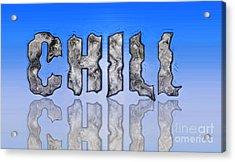 Acrylic Print featuring the digital art Chill Digital Art Prints by Valerie Garner