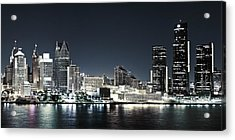 Chilled Detroit Skyline  Acrylic Print