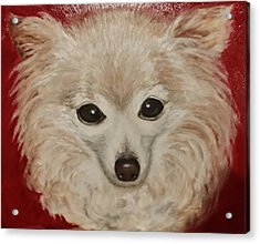 Acrylic Print featuring the painting Chilli Dog by Sandra Nardone