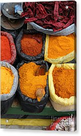 Chilli Powders 3 Acrylic Print by James Brunker