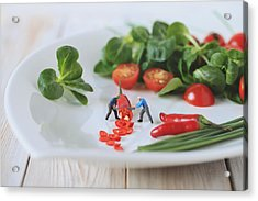Chilli Salad For Tonight's Dinner Acrylic Print by Gediminas Karbauskis