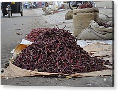 Chillies  Acrylic Print by Bliss Of Art