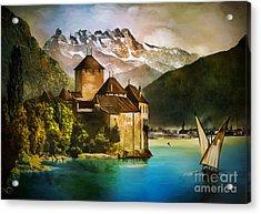 Chillon Castle  Acrylic Print by Andrzej Szczerski