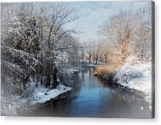 Acrylic Print featuring the photograph Chilly Brook by Robin-Lee Vieira