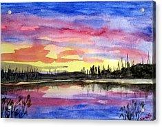 Chilly Morning Sunrise Acrylic Print