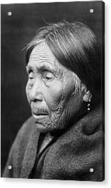 Chimakum Indian Woman Circa 1913 Acrylic Print by Aged Pixel