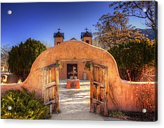 Acrylic Print featuring the photograph Chimayo Mission by Wendell Thompson