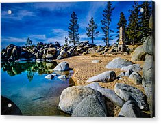 Chimney Beach Lake Tahoe Acrylic Print