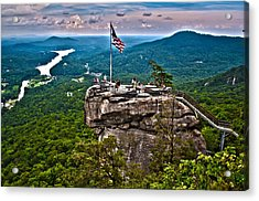 Acrylic Print featuring the photograph Chimney Rock At Lake Lure by Alex Grichenko