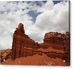 Chimney Rock In Capitol Reef National Park In Utah Acrylic Print