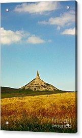 Chimney Rock Nebraska Acrylic Print by Robert Frederick