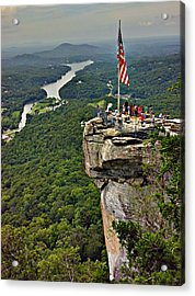 Acrylic Print featuring the photograph Chimney Rock Overlook by Alex Grichenko