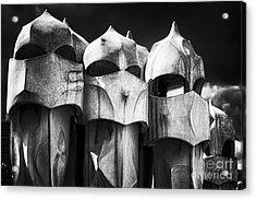 Chimneys Of Gaudi Acrylic Print by George Oze