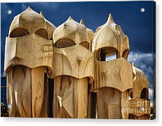Chimneys Of La Pedrera Acrylic Print by George Oze