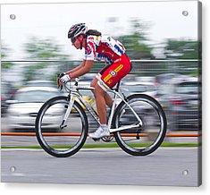 Chin Picnic Bike Race Canada Day 2013 2 Acrylic Print by Brian Carson