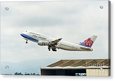China Arlines 747 Lifts Off From Lax Acrylic Print