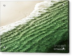 China Beach Wave Ocean Theme Pillow Print Tote Acrylic Print by Artist and Photographer Laura Wrede