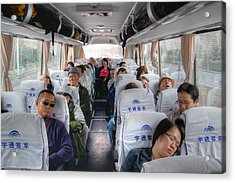 China Bus Ride  Acrylic Print