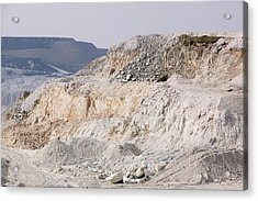 China Clay Workings Near St Austell Acrylic Print by Ashley Cooper