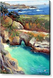 China Cove Point Lobos Acrylic Print by Karin  Leonard