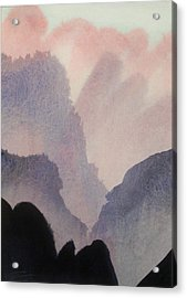 Acrylic Print featuring the painting China by Ed  Heaton