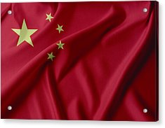 China Flag  Acrylic Print by Les Cunliffe