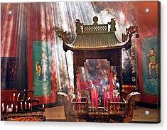 China, Hangzhou, Lingyin Buddhist Acrylic Print