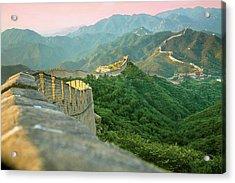 China, Huairou County, Sunrise Acrylic Print by Miva Stock