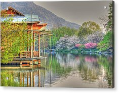 China Lake House Acrylic Print