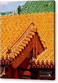 China Pavilion Acrylic Print by Joy Hardee