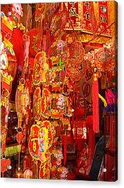 China Town Lanterns Acrylic Print by Jack Edson Adams