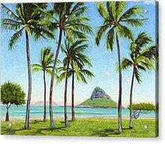 Chinamans Hat - Oahu Acrylic Print by Steve Simon