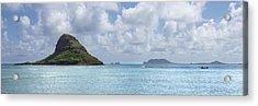 Chinamans Hat Panorama - Oahu Hawaii Acrylic Print by Brian Harig