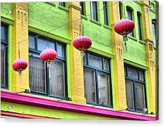 Chinatown Colors Acrylic Print