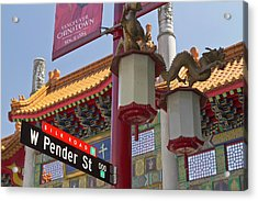 Chinatown Entry Gate On West Pender Acrylic Print
