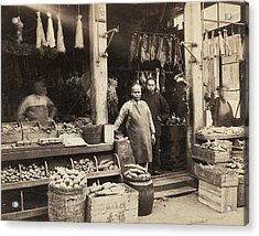 Chinatown Grocery Store Acrylic Print by Underwood Archives