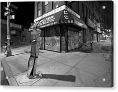 Chinatown New York - Division And Ludlow Street Acrylic Print by Gary Heller
