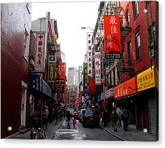 Chinatown Ny Acrylic Print