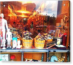 Acrylic Print featuring the photograph Chinatown Nyc Herb Shop by Joan Reese
