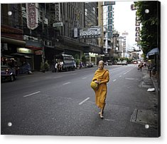 Chinatown Walk Acrylic Print by David Longstreath