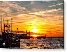 Chincoteague Bay Sunset Acrylic Print