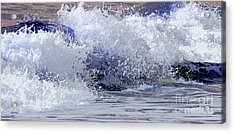 Acrylic Print featuring the photograph Chincoteague Waves by Olivia Hardwicke