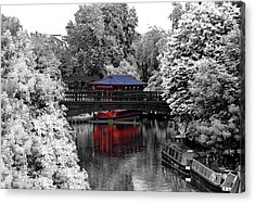 Chinese Architecture In Regent's Park Acrylic Print by Maj Seda