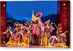 Acrylic Print featuring the photograph Chinese Ballet In Xian by Shirley Mangini
