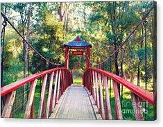 Chinese Bridge Wandiligong Acrylic Print by Linda Lees