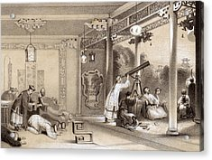 Chinese Ceremonies Performed  When An Acrylic Print by Mary Evans Picture Library