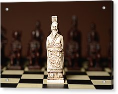 Chinese Chess King Acrylic Print by Dick Wood