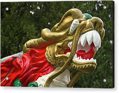Chinese Dragonboat Figurehead, Stanley Acrylic Print by William Sutton